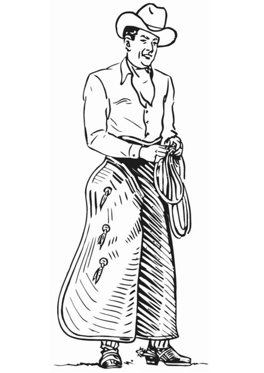 Malvorlage Cowboy Ausmalbild 18236