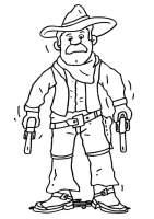 Malvorlage Cowboy   Kostenlose Ausmalbilder Zum Ausdrucken.