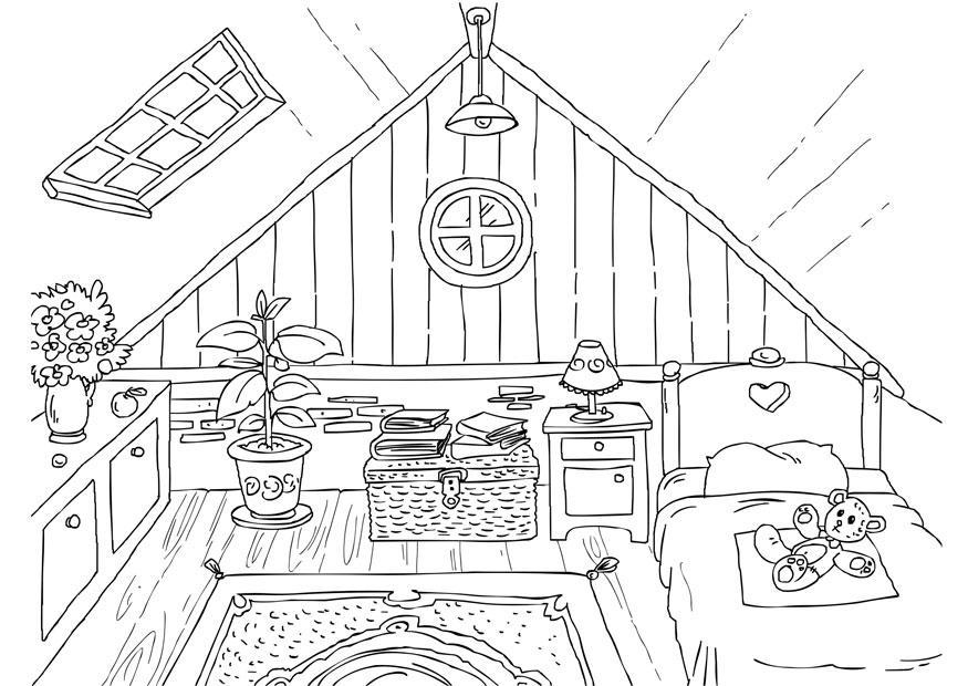 Malvorlage Dachboden  Ausmalbild 26226