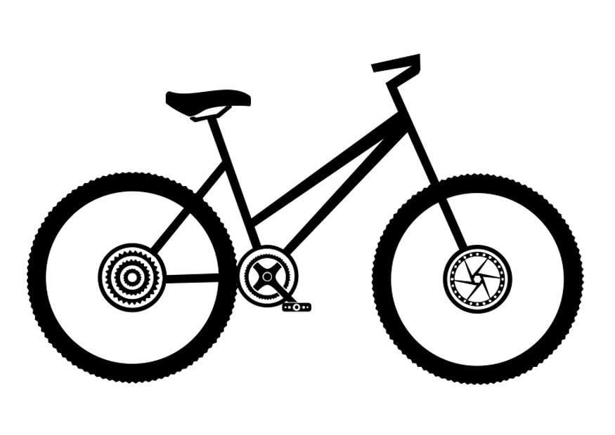 Ausmalbild Bmx Fahrrad