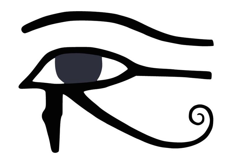 Malvorlage das Auge des Horus - Kostenlose Ausmalbilder