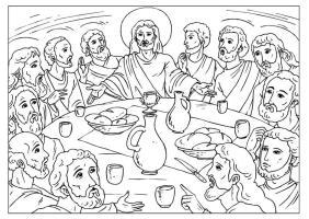 Malvorlage das letzte Abendmahl   Kostenlose Ausmalbilder ...