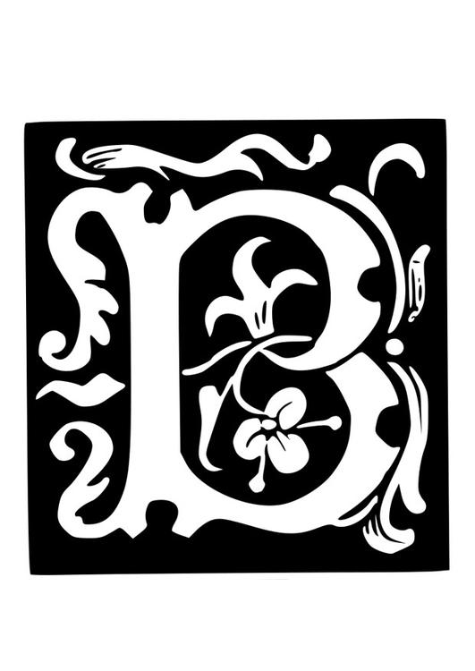 Malvorlage Dekorativer Buchstabe - B Ausmalbild 19027