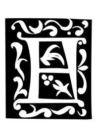 Malvorlage Dekorativer Buchstabe - F | Ausmalbild 19029.