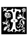 Malvorlage Dekorativer Buchstabe - K - Kostenlose