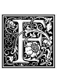 Malvorlage Dekoratives Alphabet - F | Ausmalbild 28637.