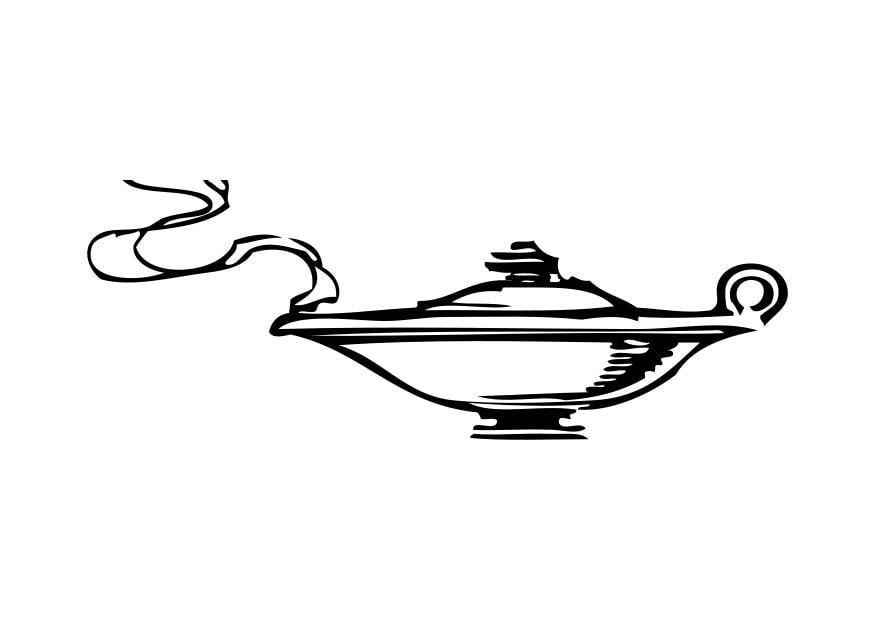 Malvorlage der Geist aus der Wunderlampe Ausmalbild 17327