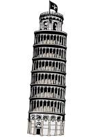 Malvorlage der Turm von Pisa   Kostenlose Ausmalbilder Zum ...