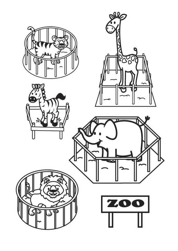 Malvorlage der Zoo - Kostenlose Ausmalbilder Zum