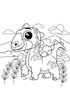 Malvorlage Dino unterwegs   Kostenlose Ausmalbilder Zum ...