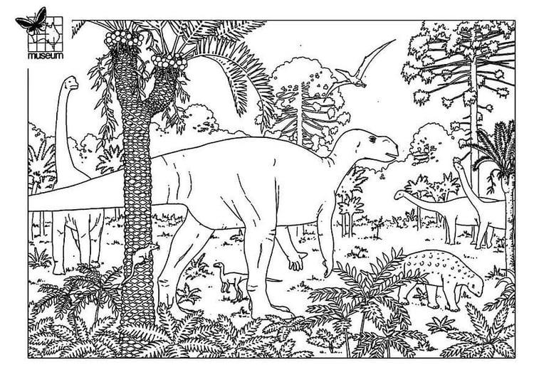 Malvorlage Dinosaurier Ausmalbild 7748