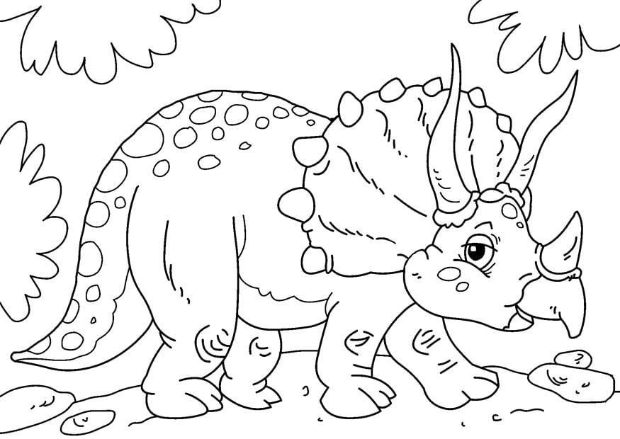 Malvorlage Dinosaurier - Triceratops Ausmalbild 27631