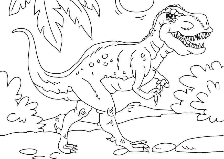 Malvorlage Dinosaurier - Tyrannosaurus Rex - Kostenlose