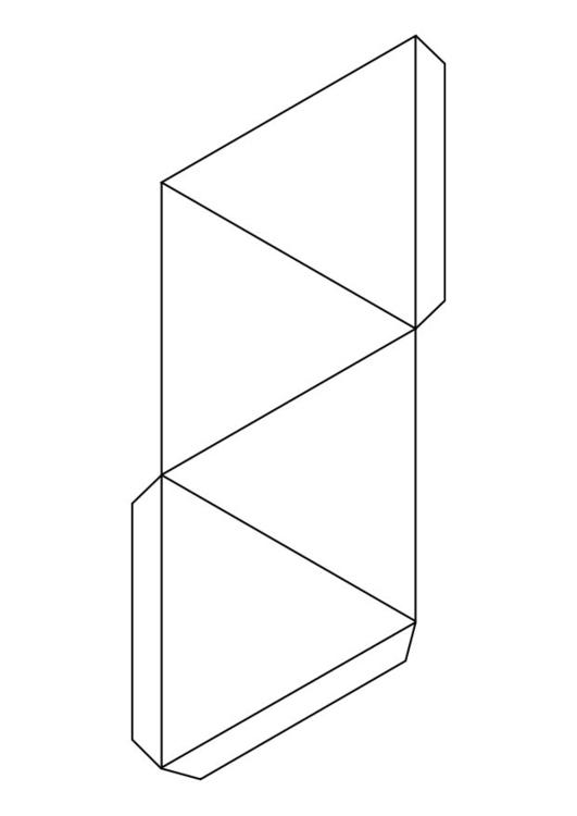 Malvorlage Dreieck - Pyramide - Kostenlose Ausmalbilder