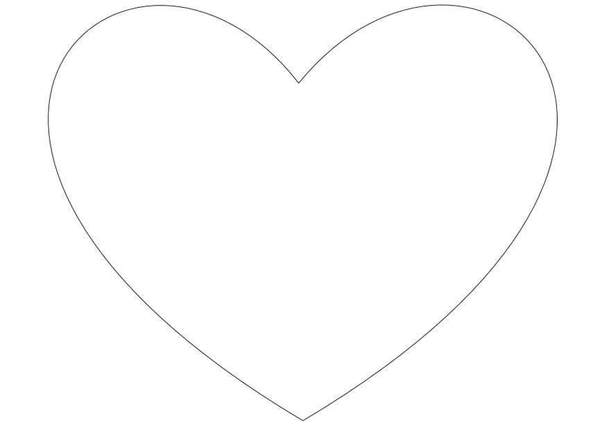 Malvorlage einfaches Herz - Kostenlose Ausmalbilder Zum