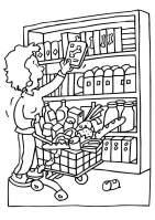 Malvorlage einkaufen   Kostenlose Ausmalbilder Zum ...