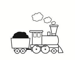 Malvorlage Eisenbahn   Ausmalbild 23358.