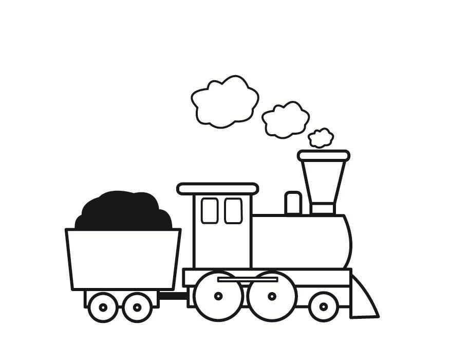 Malvorlage Eisenbahn Ausmalbild 23358