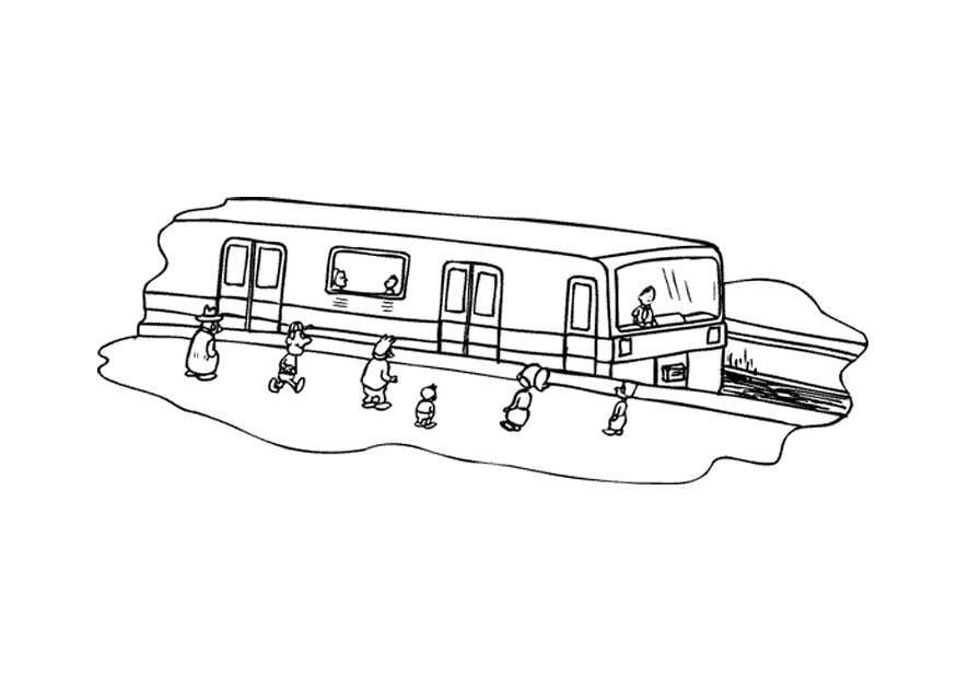 Malvorlage Eisenbahn - Kostenlose Ausmalbilder Zum