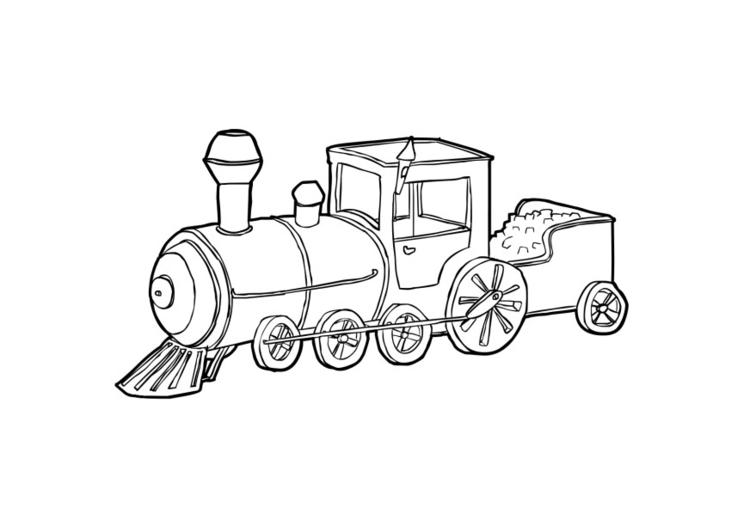 Eisenbahn Malvorlage