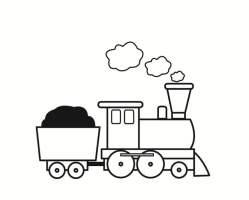 Malvorlage Eisenbahn   Kostenlose Ausmalbilder Zum ...