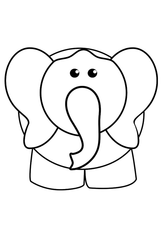Malvorlage Elefant Ausmalbild 29425