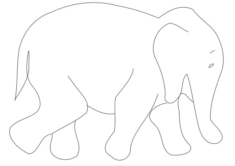 Malvorlage Elefant Ausmalbild 9962