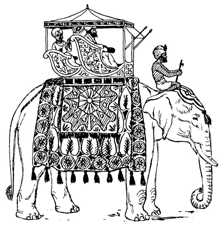Malvorlage Elefant in Indien Ausmalbild 13357