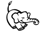 Malvorlage Elefant - Kostenlose Ausmalbilder Zum