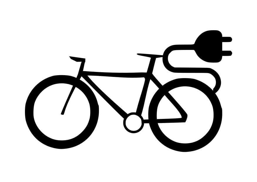 Malvorlage elektrisches Fahrrad - Kostenlose Ausmalbilder
