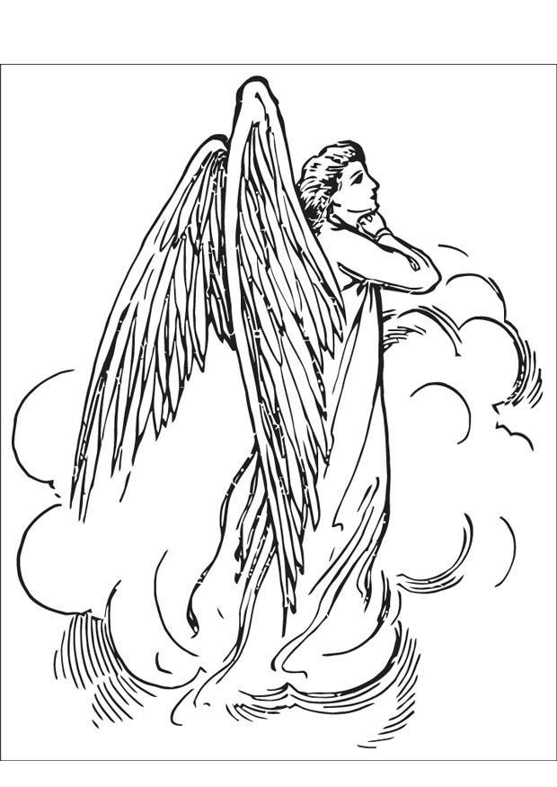 Malvorlage Engel - Kostenlose Ausmalbilder Zum Ausdrucken