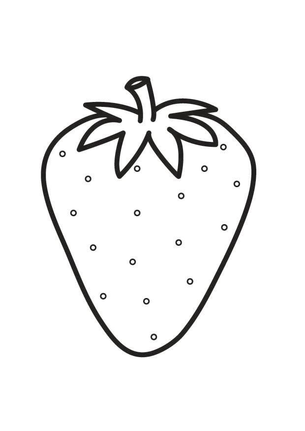 Malvorlage Erdbeere - Kostenlose Ausmalbilder Zum