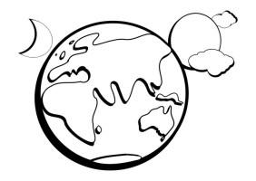 Malvorlage Erde   Kostenlose Ausmalbilder Zum Ausdrucken ...
