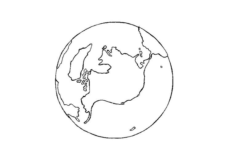 Malvorlage Erde - Kostenlose Ausmalbilder Zum Ausdrucken