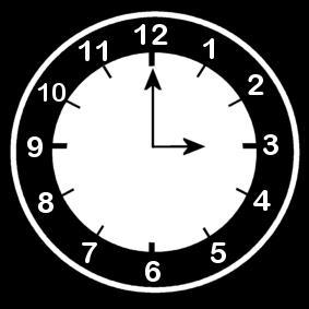 Malvorlage es ist 3 Uhr Ausmalbild 13652