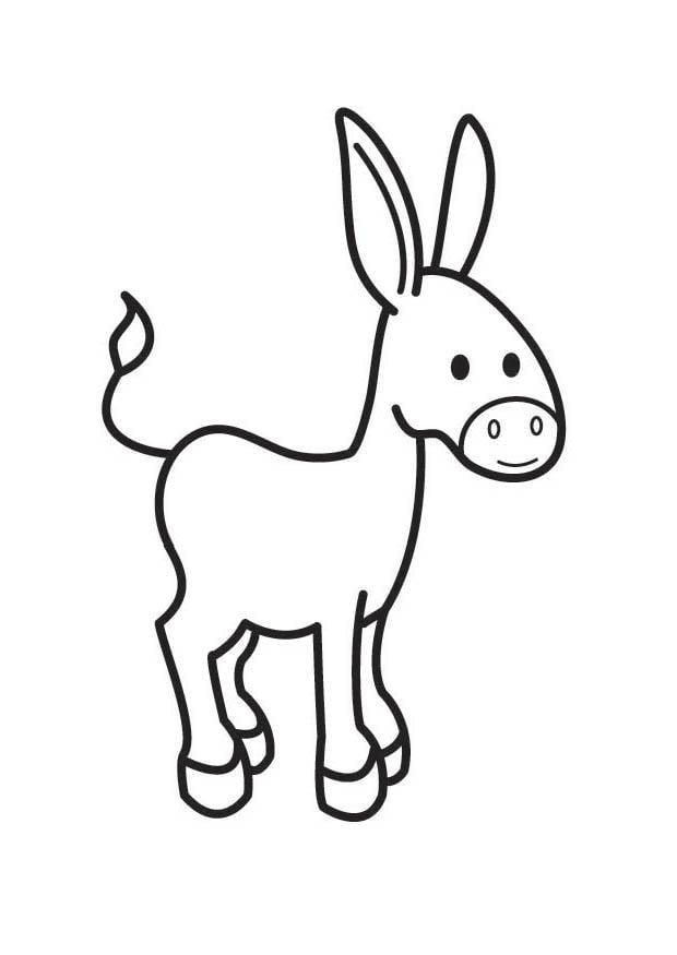 Malvorlage Esel - Kostenlose Ausmalbilder Zum Ausdrucken