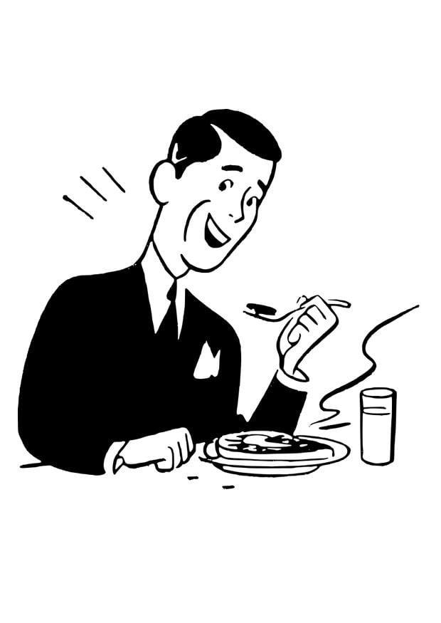 Malvorlage essen - Kostenlose Ausmalbilder Zum Ausdrucken