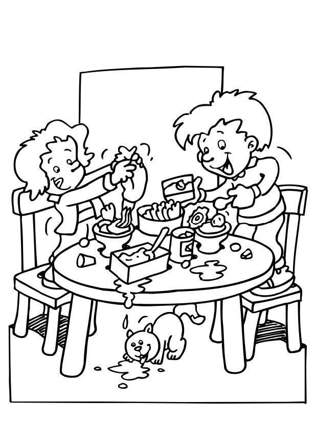 Malvorlage Essen machen Ausmalbild 6493