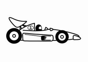 Malvorlage F1 Rennauto   Kostenlose Ausmalbilder Zum ...