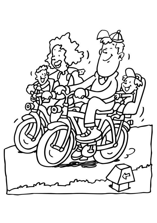 Malvorlage Fahrrad fahren - Kostenlose Ausmalbilder Zum