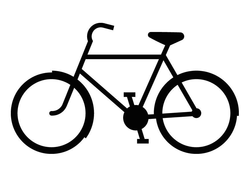Malvorlage Fahrradsilhouette Ausmalbild 9835
