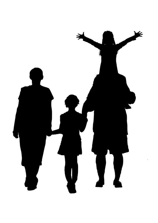 Malvorlage Familie - Kostenlose Ausmalbilder Zum