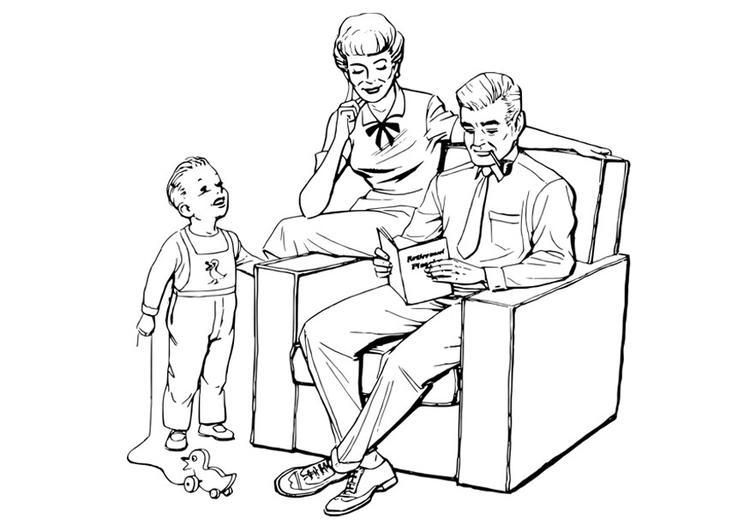 Malvorlage Familie - Kostenlose Ausmalbilder Zum Ausdrucken