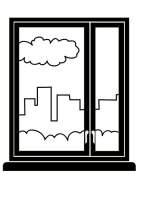 Malvorlage Fenster   Kostenlose Ausmalbilder Zum ...