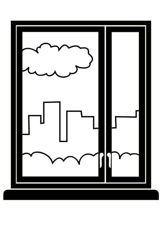 Malvorlage Fenster - Kostenlose Ausmalbilder Zum