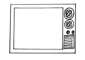 Malvorlage Fernseher   Kostenlose Ausmalbilder Zum ...