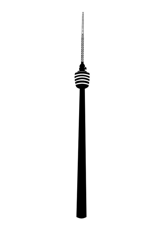 Malvorlage Fernsehturm Stuttgart Ausmalbild 27842