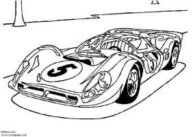 Malvorlage Ferrari P 4   Ausmalbild 5439.