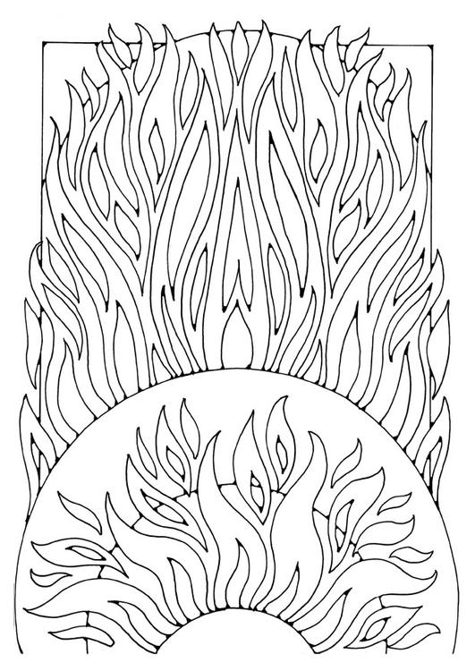 Malvorlage Feuer Ausmalbild 21911
