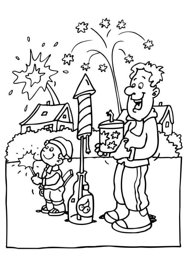 Malvorlage Feuerwerk Ausmalbild 6568